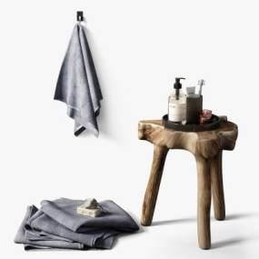 现代卫浴凳3D模型【ID:750113654】