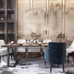 新中式餐桌椅组合3D快三追号倍投计划表【ID:833969856】