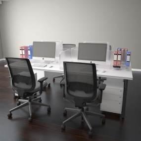 现代会议桌3D模型【ID:936219165】