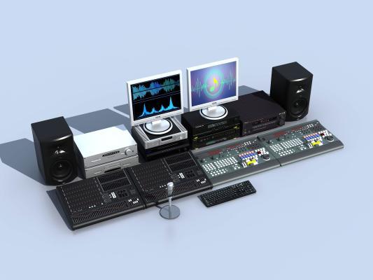 现代录音设备3D模型【ID:135416476】