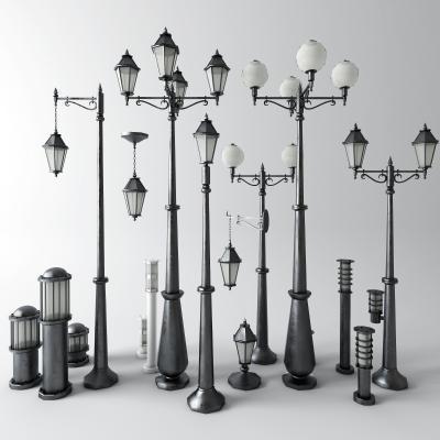 工业风户外灯3D模型【ID:851791524】