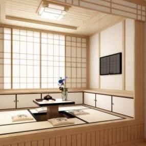 日式和�上�D�r�炱鹆松�然��C室茶室3D模型【ID:643076121】