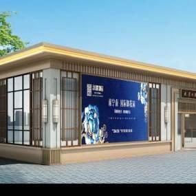 新中式外展厅3D模型【ID:932358799】