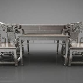新中式风格沙发3D模型【ID:647380715】