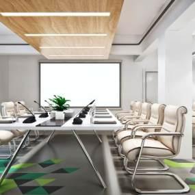 现代简约小会议室3D模型【ID:933037105】