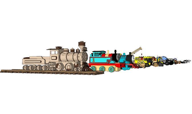 现代玩具汽车SU模型【ID:952112492】