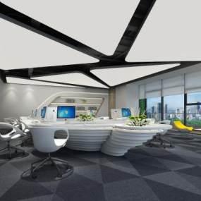 现代办公室3D模型【ID:946535012】