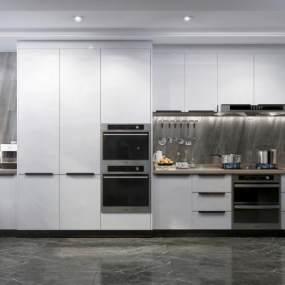 现代厨房3D模型【ID:534490377】