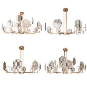現代輕奢水晶吊燈3D模型【ID:747756872】