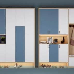北欧鞋柜3D模型【ID:144129299】