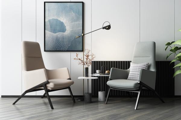 現代休閑椅3D模型【ID:750634045】