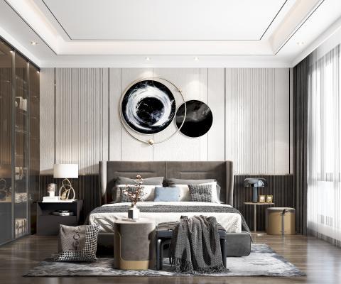 现代卧室3D模型【ID:552249243】