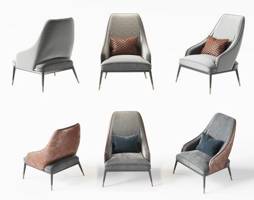现代休闲椅3D模型【ID:753089099】