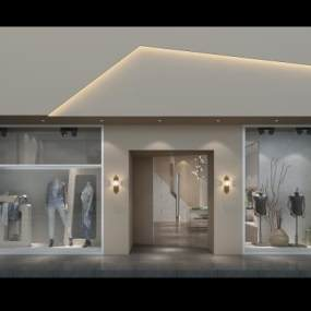 现代服装店 3D模型【ID:141411047】