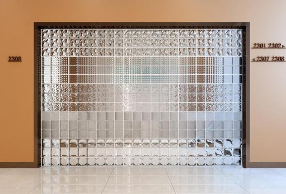 现代玻璃砖 玻璃墙组合