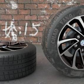 现代金属T300车轮3D模型【ID:450562762】
