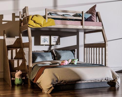 現代兒童床3D模型【ID:845704892】