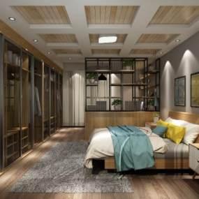 卧室一套3D模型【ID:533071292】