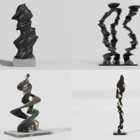 現代藝術擺件3D模型【ID:246936559】