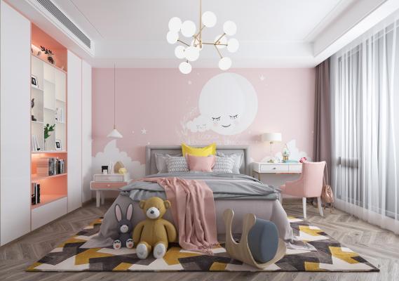 现代儿童房3D模型【ID:553252791】