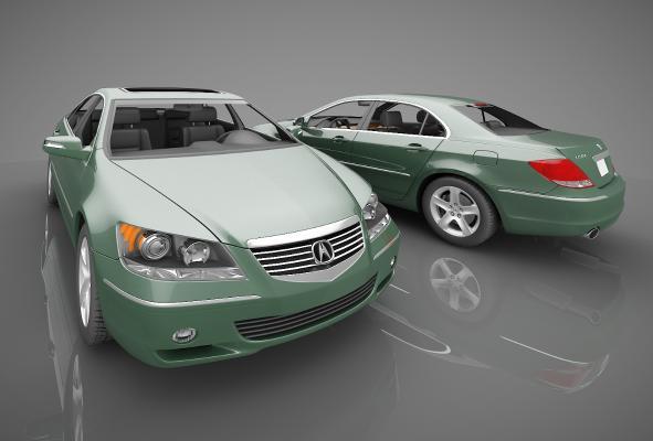 现代风格小汽车