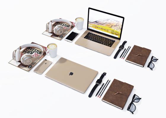 现代苹果电脑3D模型【ID:245806744】