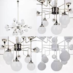 現代吊燈3D模型【ID:743460834】