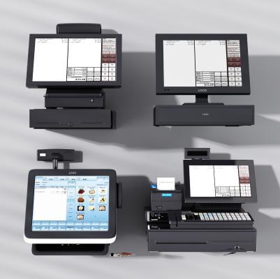 现代收银机点餐机结帐机3D模型【ID:430495521】