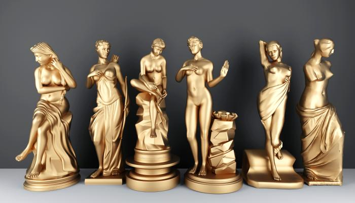 洗浴美女人物雕塑组合3D模型【ID:341315046】