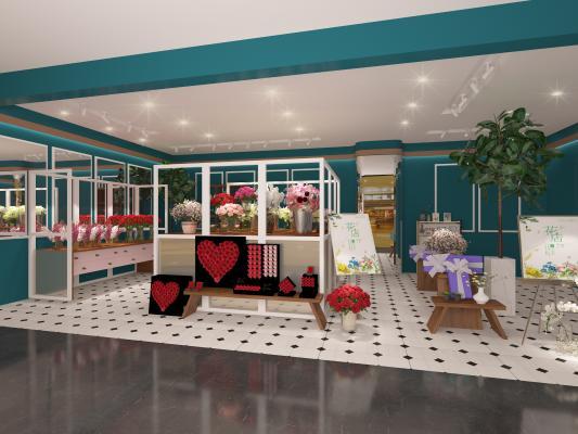 现代轻奢花店