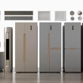 现代冰箱空调风口组合3D模型【ID:243541661】