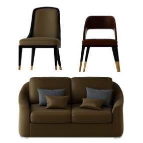 现代双人沙发单椅组合365彩票【ID:635598530】