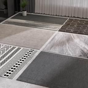 现代地毯3D模型【ID:349035216】
