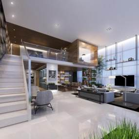 现代大户型公寓3D模型【ID:733096373】
