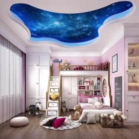 现代儿童房3D模型【ID:533729737】