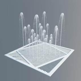 現代戶外景觀噴泉3D模型【ID:446922527】