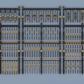 欧式铁艺栏杆护栏扶手3D模型【ID:336255578】
