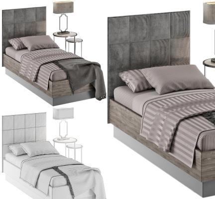 现代风格单人床