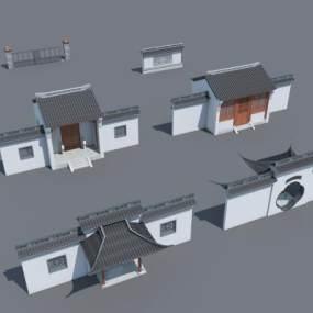 新中式古建3D模型【ID:130870499】