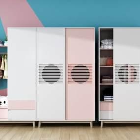现代衣柜3D模型【ID:144493449】