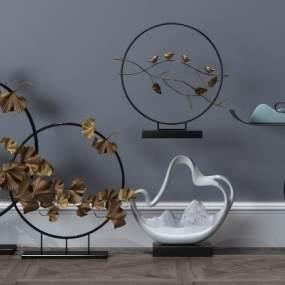 中式饰品摆件工艺品装饰品3D模型【ID:232009533】