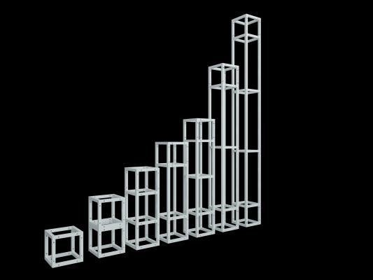 現代舞臺方管桁架3D模型【ID:442502010】