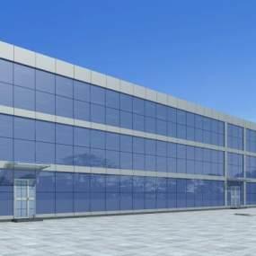 现代三层楼办公楼宿舍楼3D模型【ID:132655939】