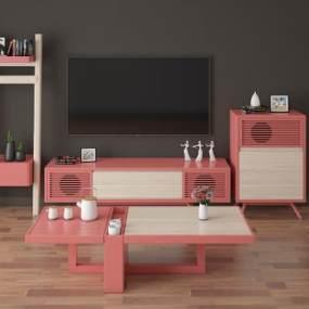 电视柜3D模型【ID:936163936】