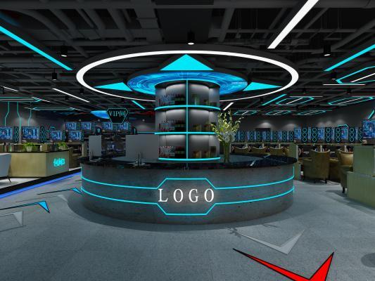 现代网咖3D模型【ID:748859989】