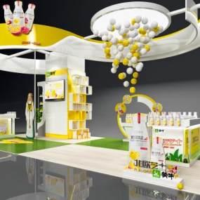 現代創意展銷廳3D模型【ID:946643797】