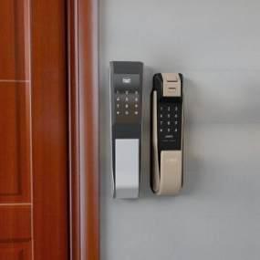 現代智能鎖門把手3D模型【ID:347045391】