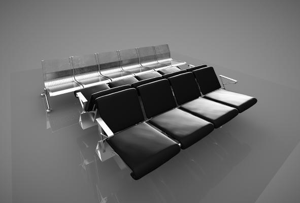 現代公共椅子3D模型【ID:741780753】