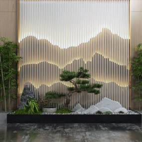园艺小品山水景观3D模型【ID:130590450】