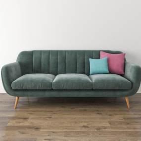 北欧三人沙发3D模型【ID:636216683】